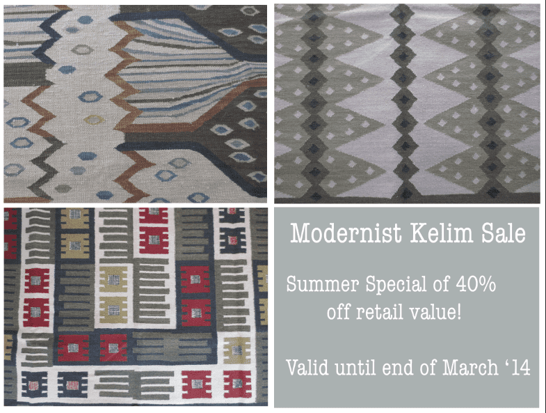 Modernist Kelim Summer Sale