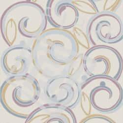 Tufted Wool, Pastel Swirl Design