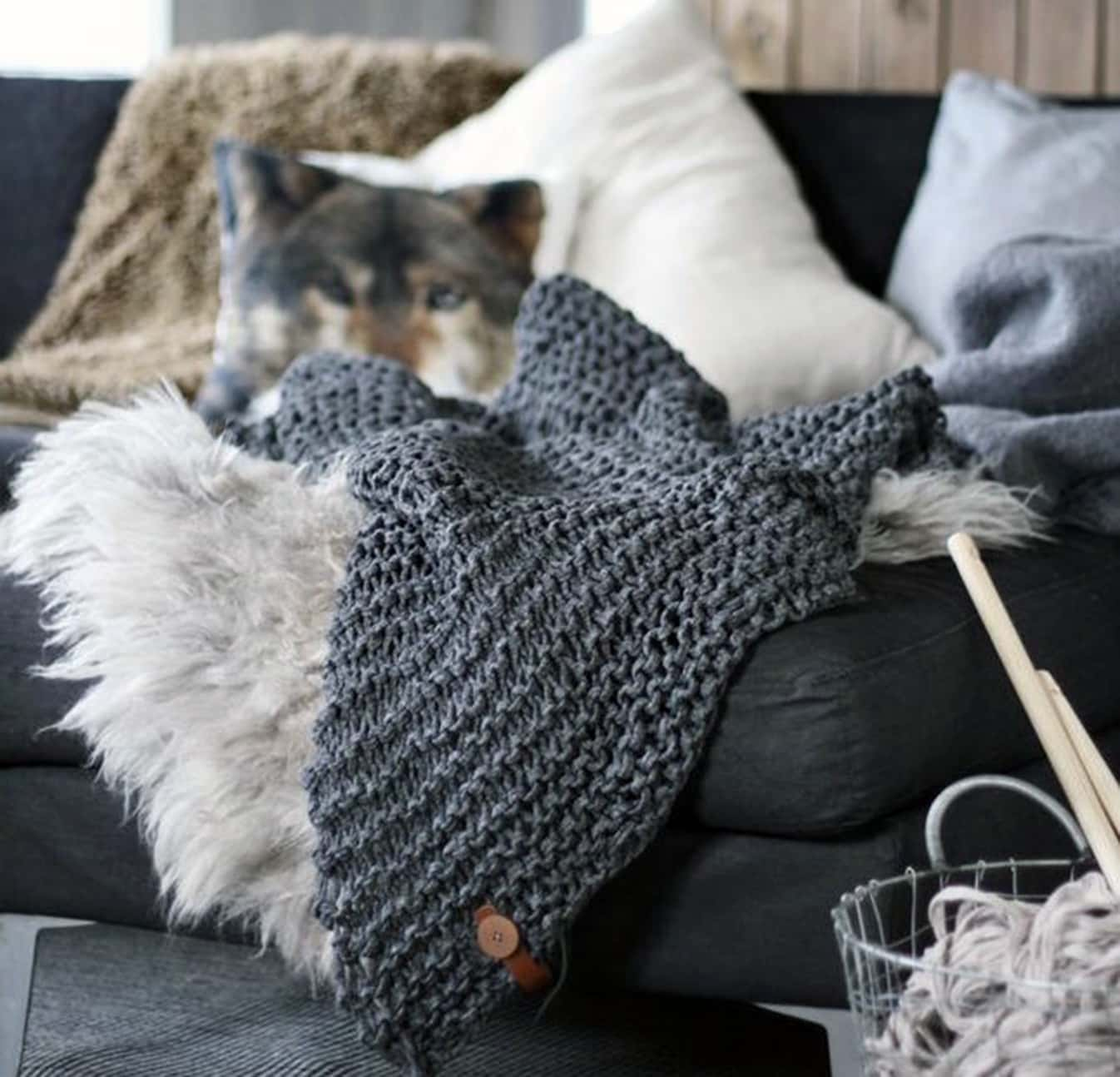 Mohair and Berber throws