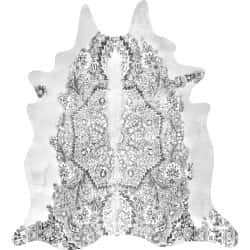 Grey Persian Cowhide rug, Artists : Young & Battaglia, 150cm x165 cm
