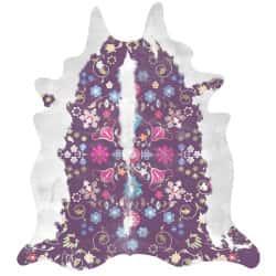 Gypsy Cowhide (Purple) Artists: Young & Battaglia, 150cm x165 cm