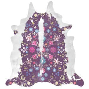 Gypsy Cowhide (Purple) Artists: Young & Battaglia, 150cm x165 cm