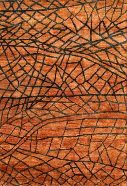 Bast Fibre handknotted Fibre Designs Rug