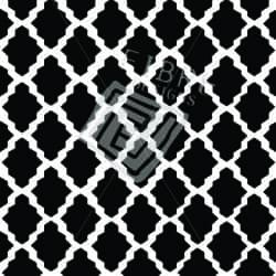 Tufted Wool, Black & White Lattice Design