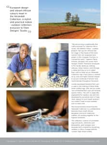 Page 2 -Verandah Collection Women's Empowerment project brochure