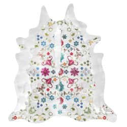Gypsy Cowhide rug (White) Artists: Young & Battaglia, 150cm x 165cm